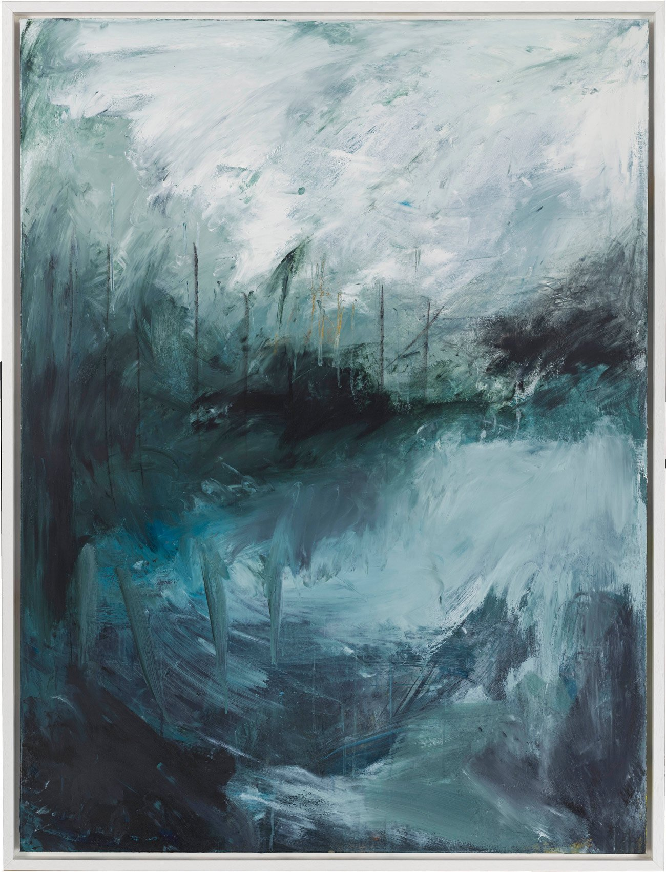 Bethany Holmes - The Masts in the Bay Acrylic, Charcoal & Oil on Canvas 120cm x 100cm