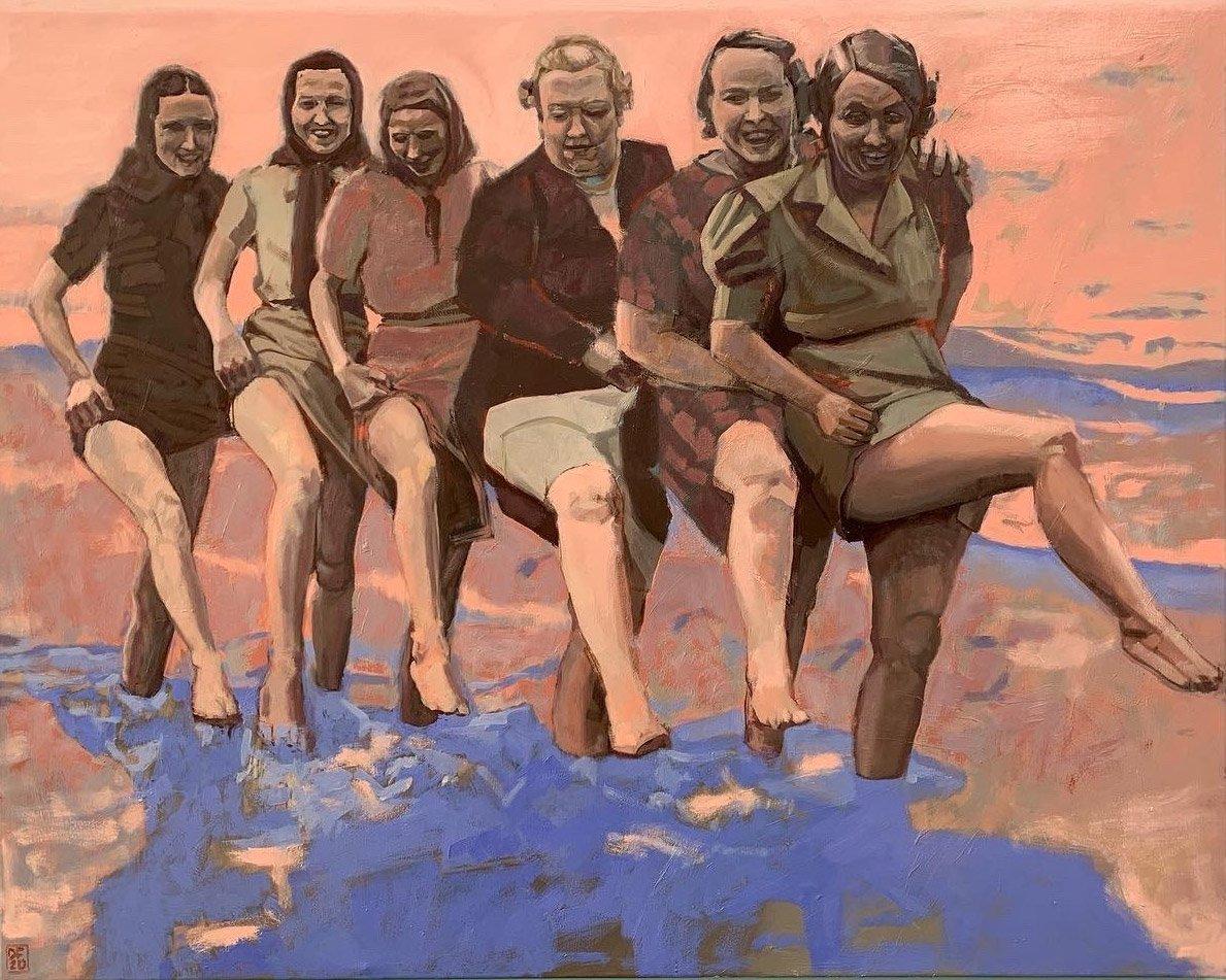 Dan Ferguson. Dipping Toes - 80x100cm oil on canvas.
