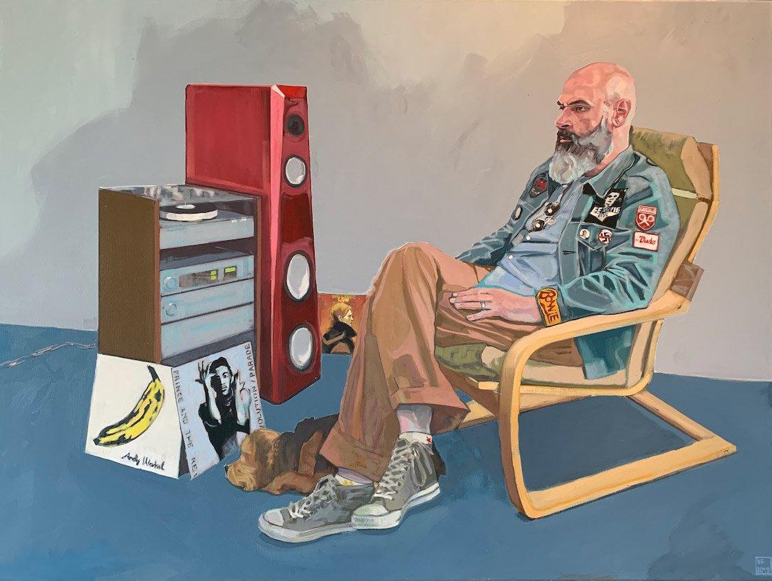 Dan Ferguson - Joe's Got The Music - 122x92cm oil on canvas.