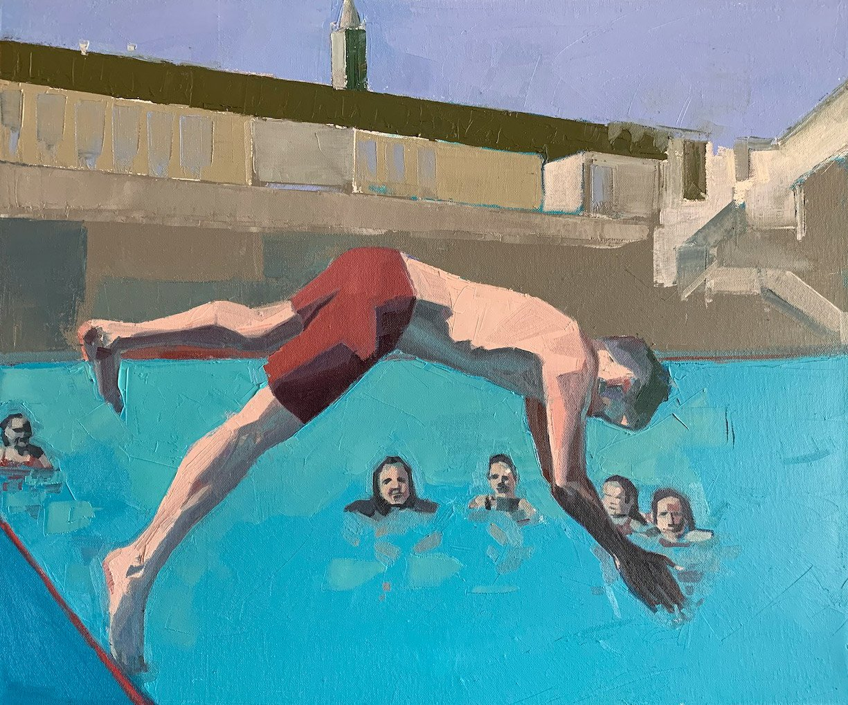 Dan Ferguson - Lido - 50x60cm oil on canvas