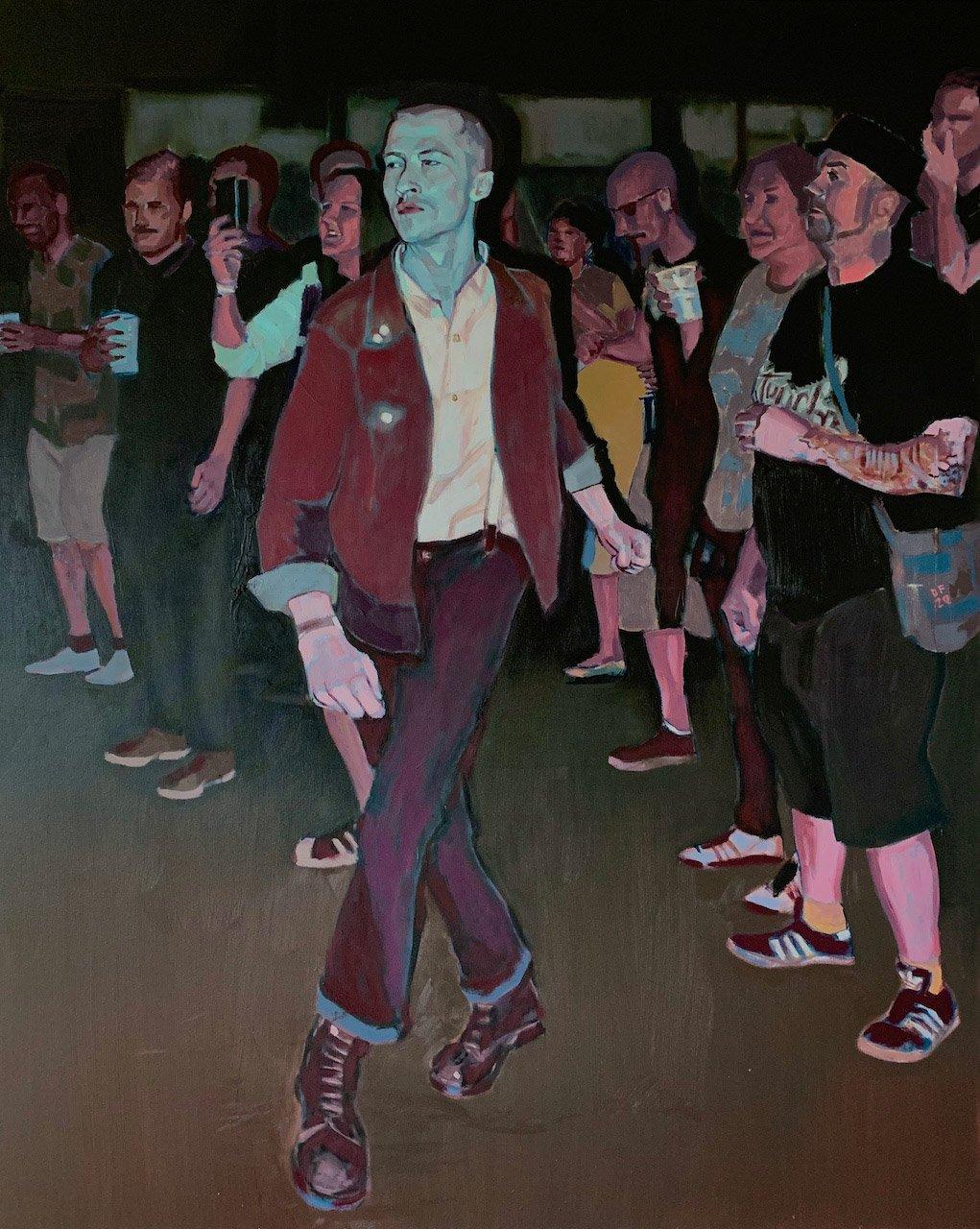 Dan Ferguson - Make Room! - 80x100cm oil on canvas.