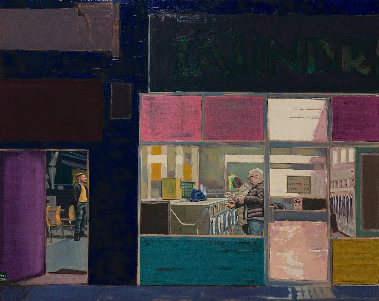 Dan Ferguson - Night Life - 80x100cm oil on canvas.