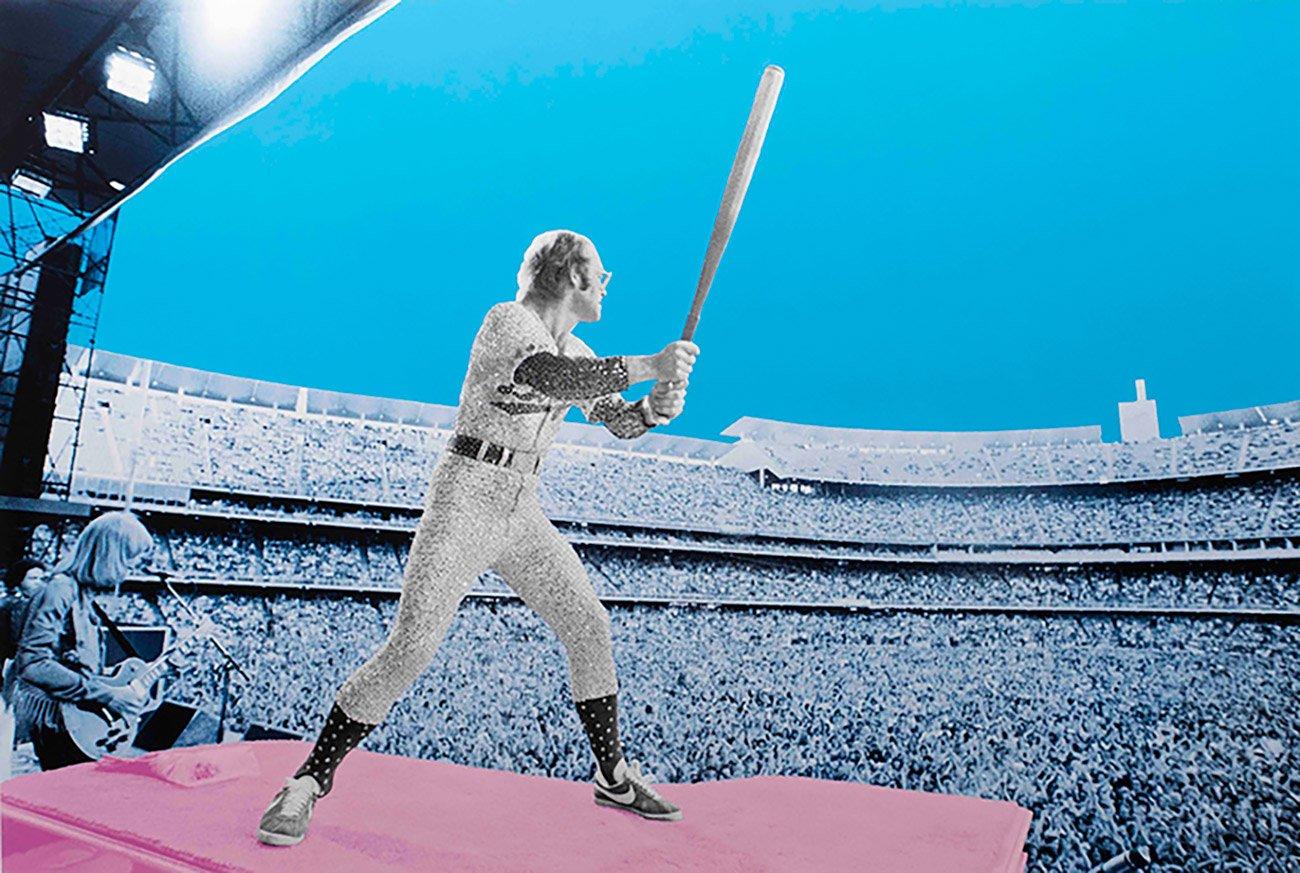 ArtStory DavidStudwell Elton John Home Run Dodger Stadium 1975 copy web