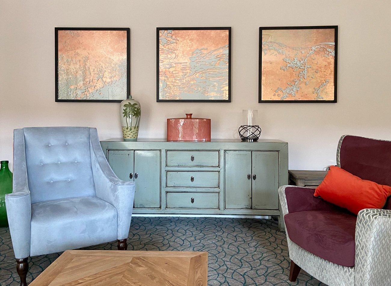 Badminton Place Care Home Lounge Art