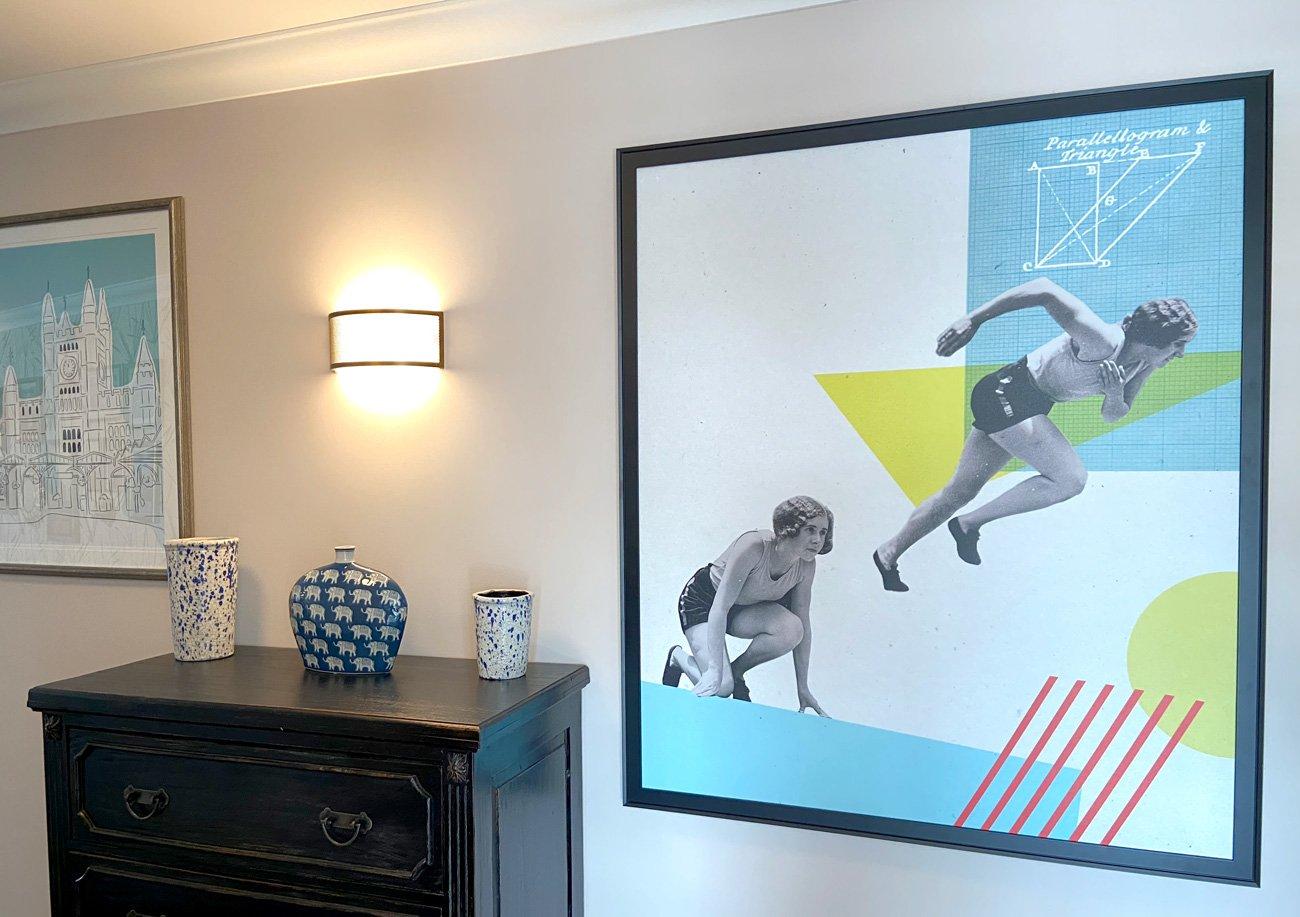 Badminton Place Care Home corridor art