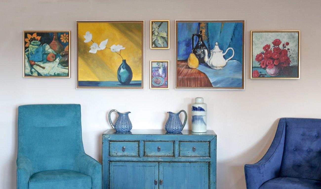 Badminton Place Care Home Lounge original art