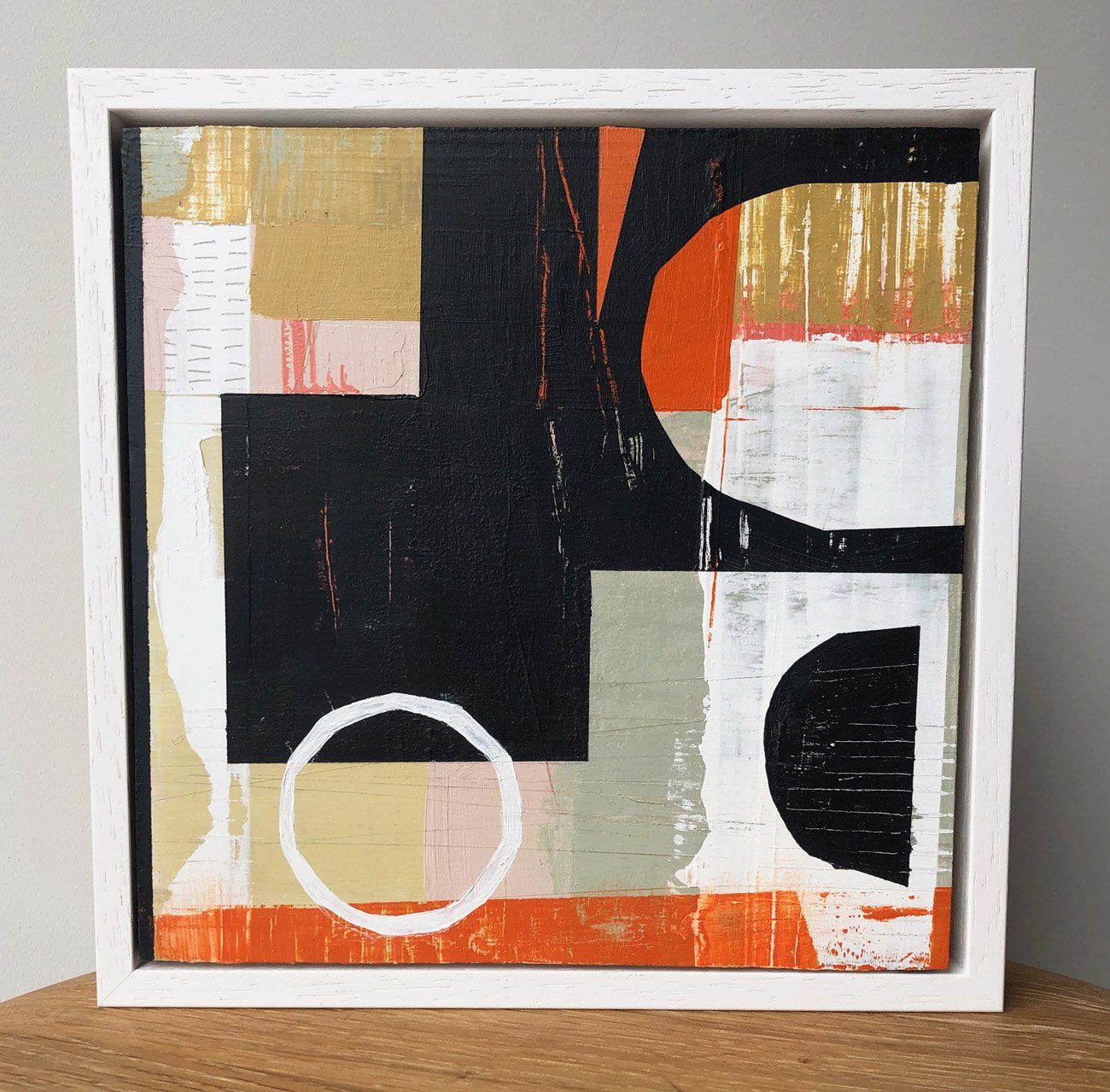 Gill Edwards, Arc - acrylic on birch board finished with a UV varnish and a cold wax finish