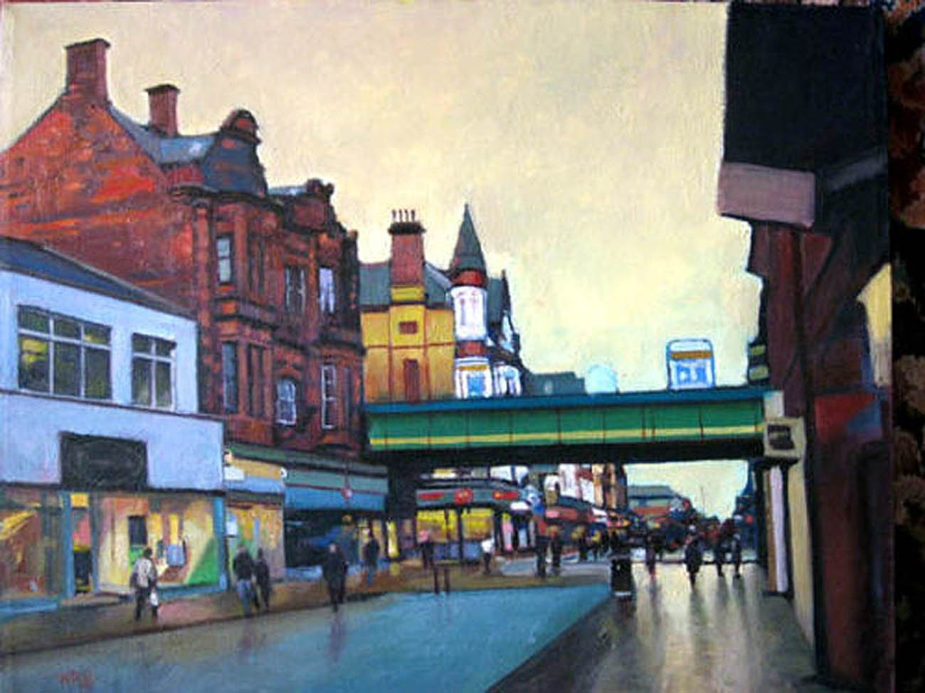 Harry Bell - King St., South Shields. Oil on canvas, 19.5 x 24 in.