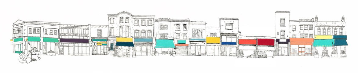 Kethi 7 The High Street 95x23 22layer Screen print limited edition 1
