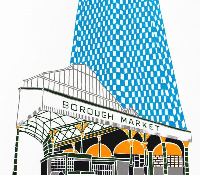 Square Blue Shard from Borough Market Liz Whiteman Smith
