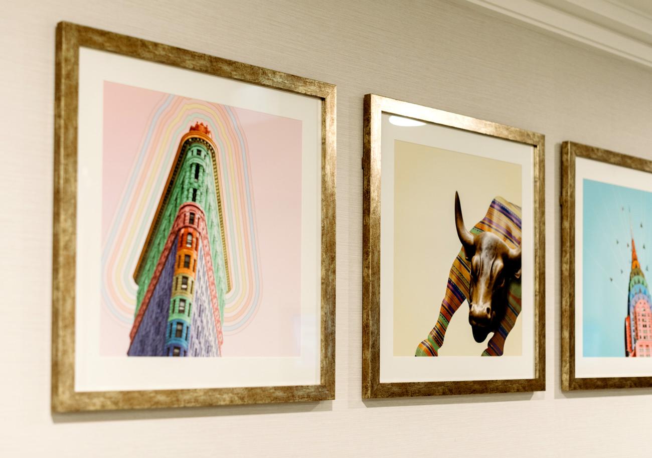 Bespoke artwork for Hilton hotel meeting rooms